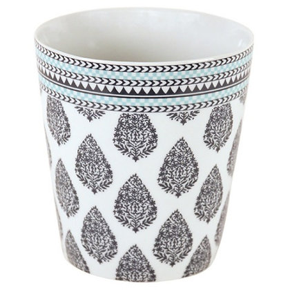 Planter with Paisley Design available in 2 colors