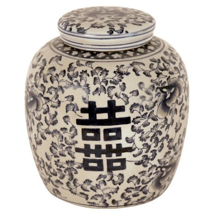 Temple Jar with Navy Design available in 2 sizes