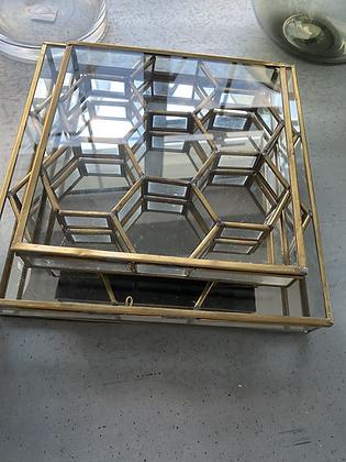 Honeycomb Box Antique Brass Large