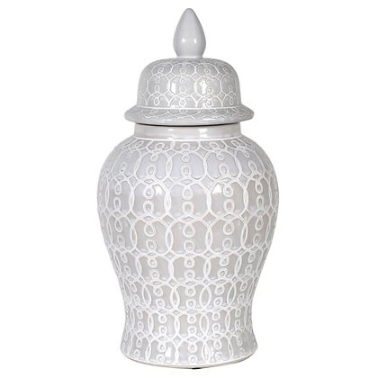 Ginger jar patterned Small