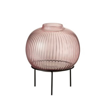 Pink vase on stand