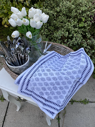Placemats indigo blue fabric