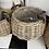 Thumbnail: Rattan  pot Belly Basket X2
