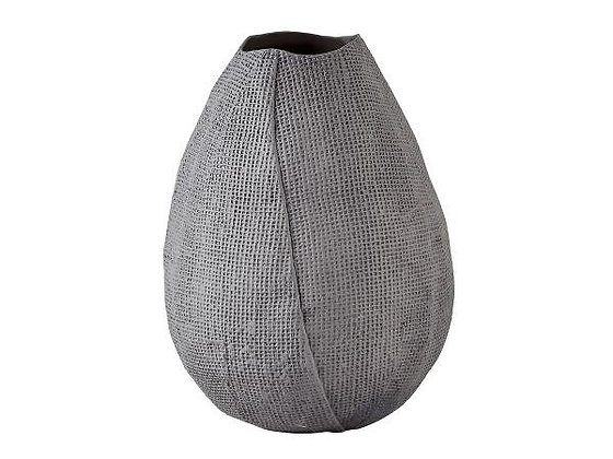 Dark Grey Tulip Shaped Ceramic Vase