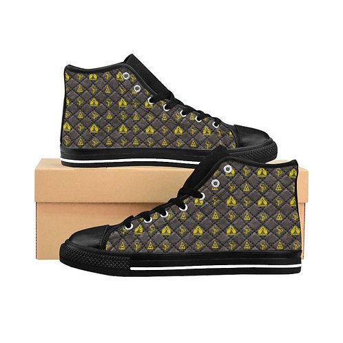 Men's Subliminal Propaganda High-top Sneakers