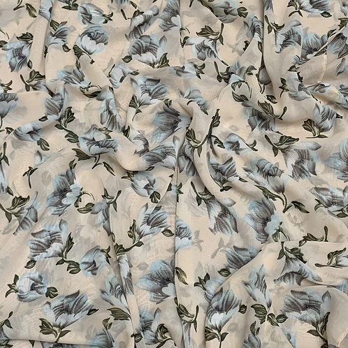 Printed Chiffon-Light Peach