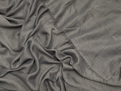 Cotton Viscose-Charcoal Gray
