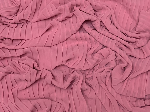 Pleated Chiffon-Pink Rose