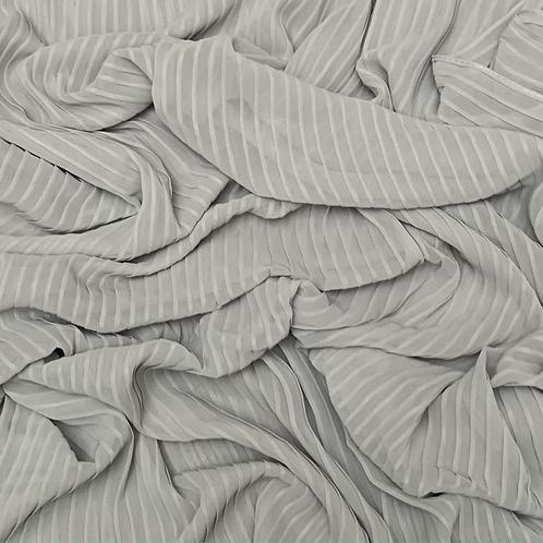 Pleated Chiffon-White Gray