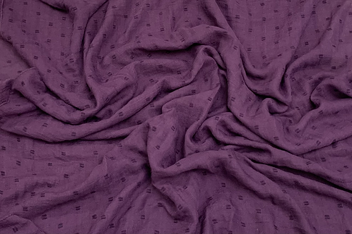 Dotted Viscose-Eggplant Purple