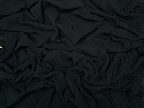 Pleated Chiffon-Black