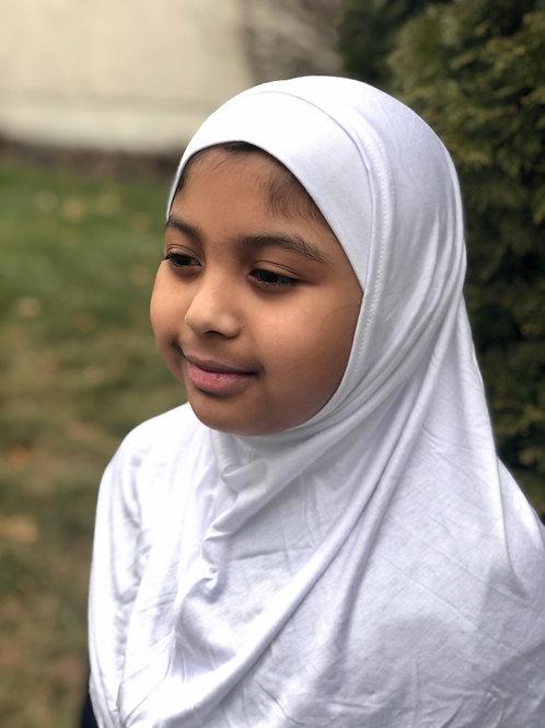2PC Amira Hijab-Pure White