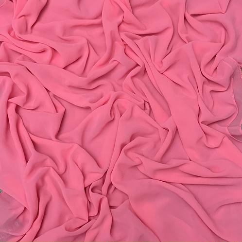 Premium Chiffon-Bubblegum Pink