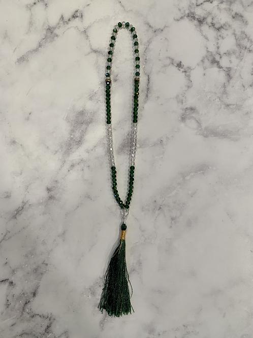 Prayer Beads-Green Crystal