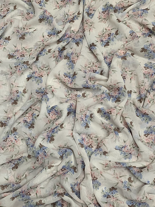 Printed Chiffon-Light Gray