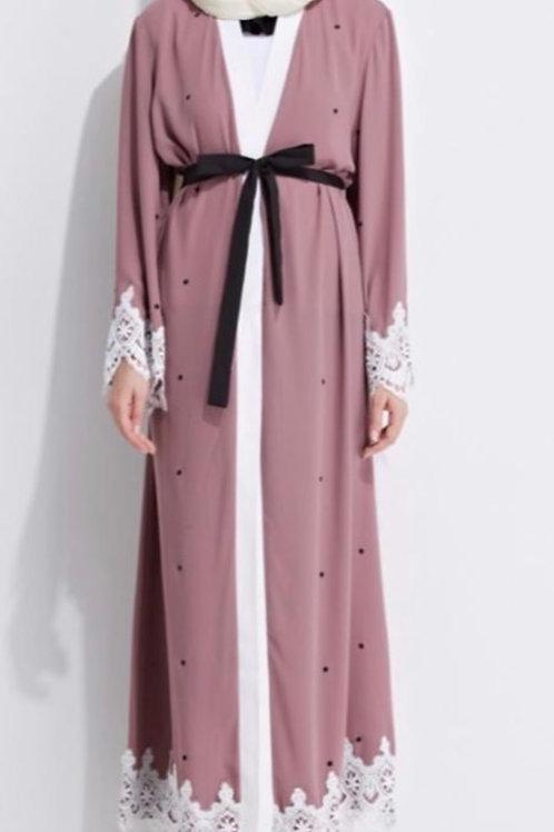 Dusty Pink Kimono Abaya