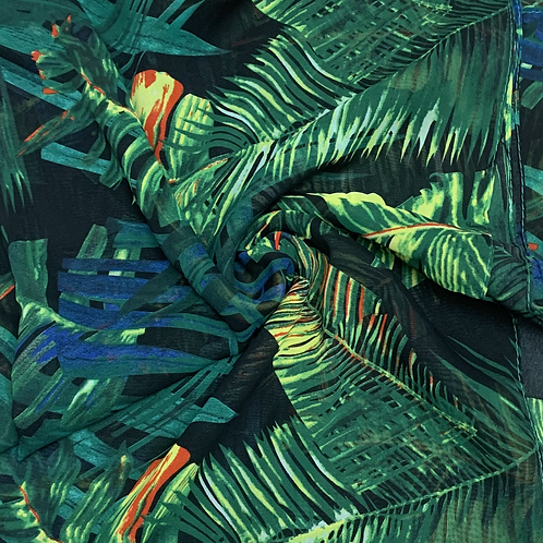 Printed Chiffon-Forest