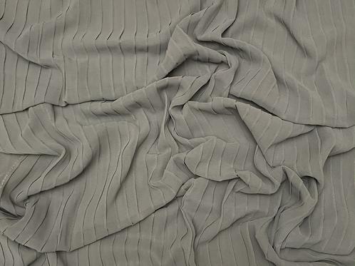 Pleated Chiffon-Gray