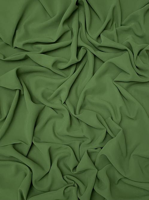 Premium Chiffon-Mehndi Green