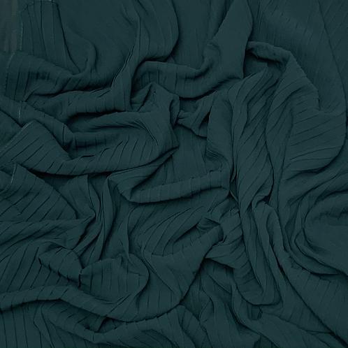 Pleated Chiffon-Dark Teal