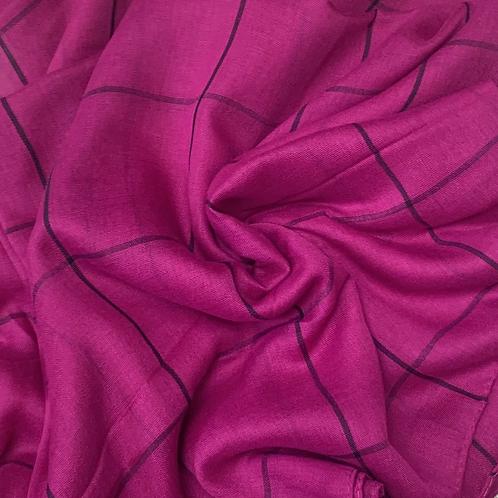 Grid Hijab-Magenta