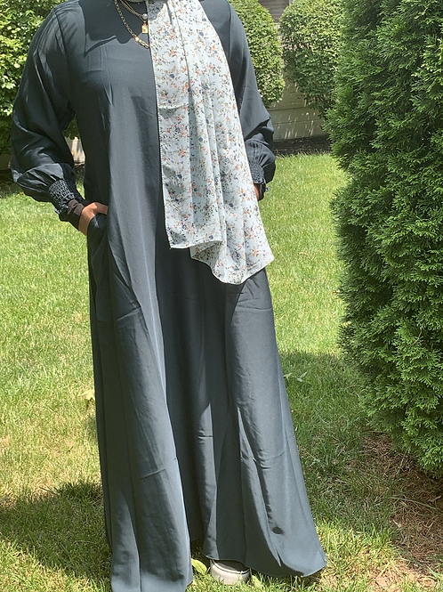 Nida Everyday Abaya-Teal