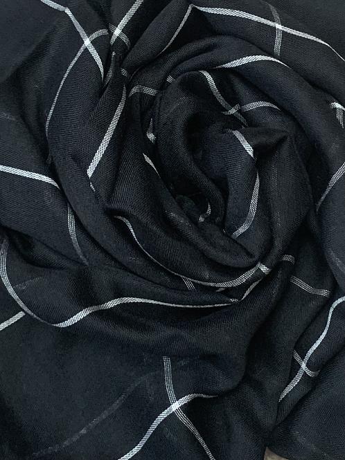 Grid Hijab-Black