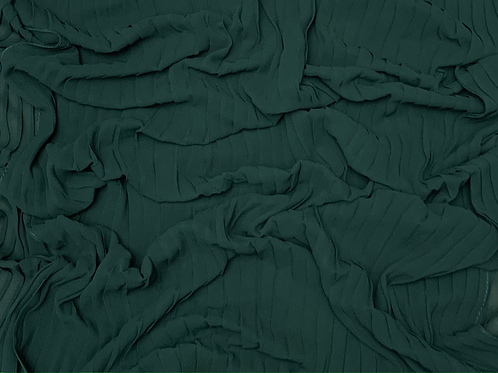 Pleated Chiffon-Emerald Green