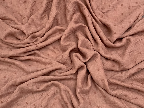 Dotted Viscose-Brown Pink