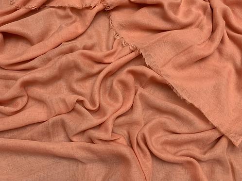 Cotton Viscose-Coral