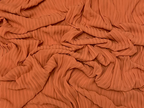 Pleated Chiffon-Fall Orange