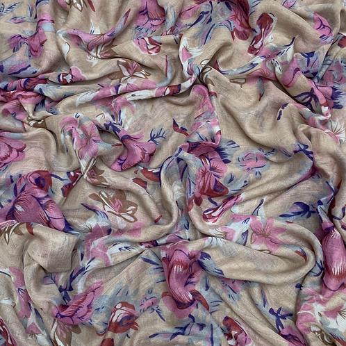 Printed Viscose-Khaki