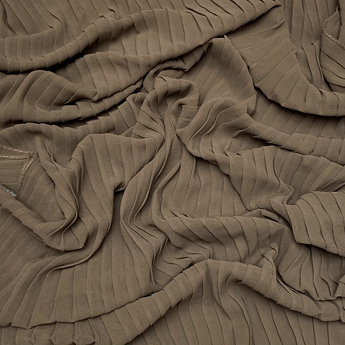 Pleated Chiffon-Taupe