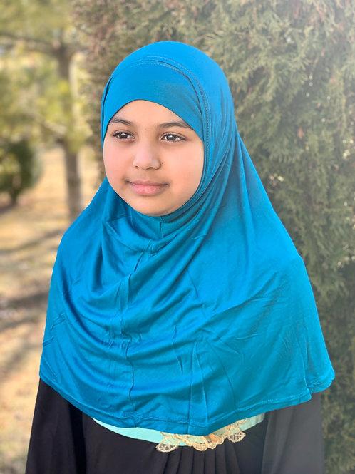Two Piece Amira Hijab-Polar Blue