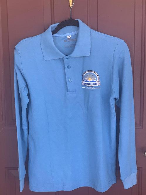 Blue Long Sleeve Polo