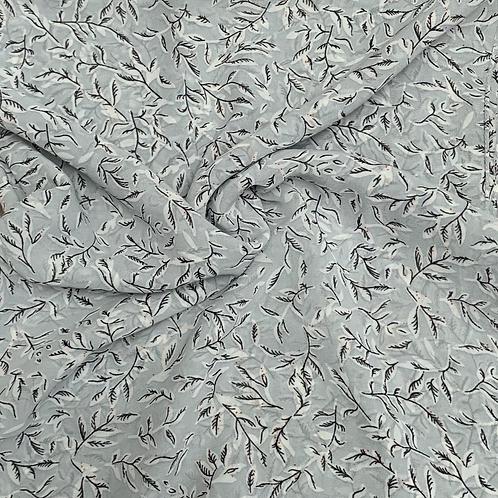 Printed Chiffon-Dull Gray