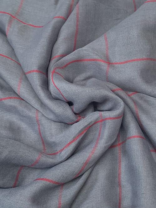 Grid Hijab-Charcoal Gray