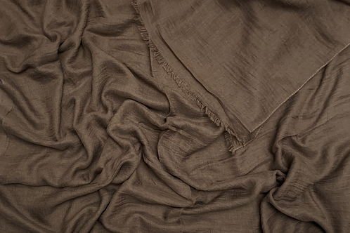 Cotton Viscose-Chocolate Brown