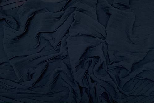 Pleated Chiffon-Dark Navy
