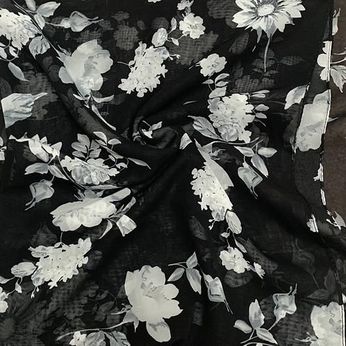 Printed Chiffon-Black