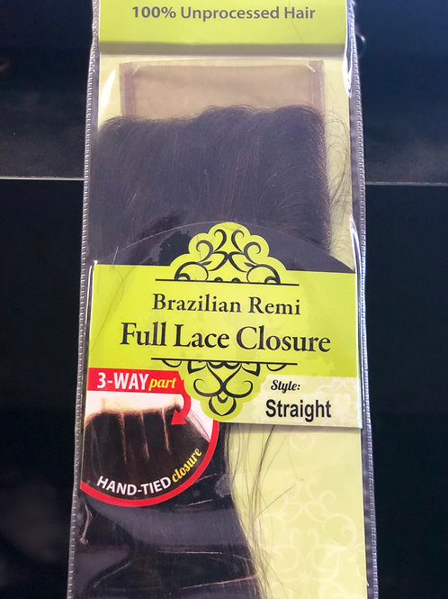 "14"" Full Lace Closure Straight"