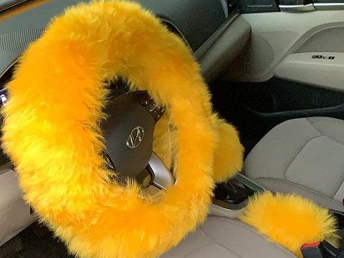 Mustard Yellow Fur Set