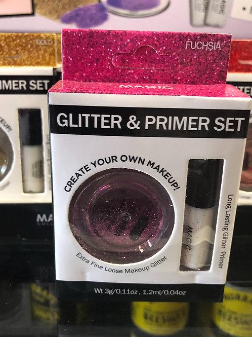 Glitter and Primer Set (Fuschia)
