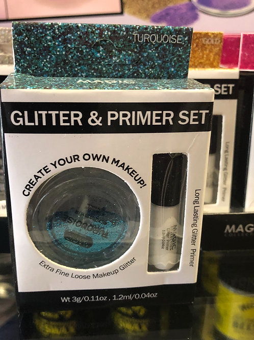 Glitter and Primer Set (Turquoise)