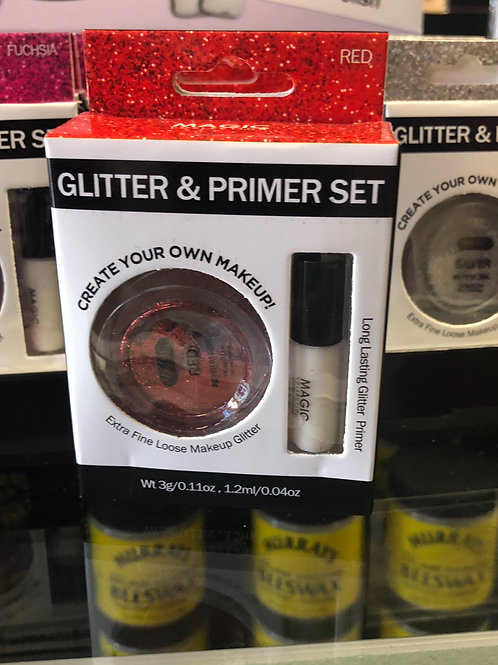 Glitter and Primer Set (Red)