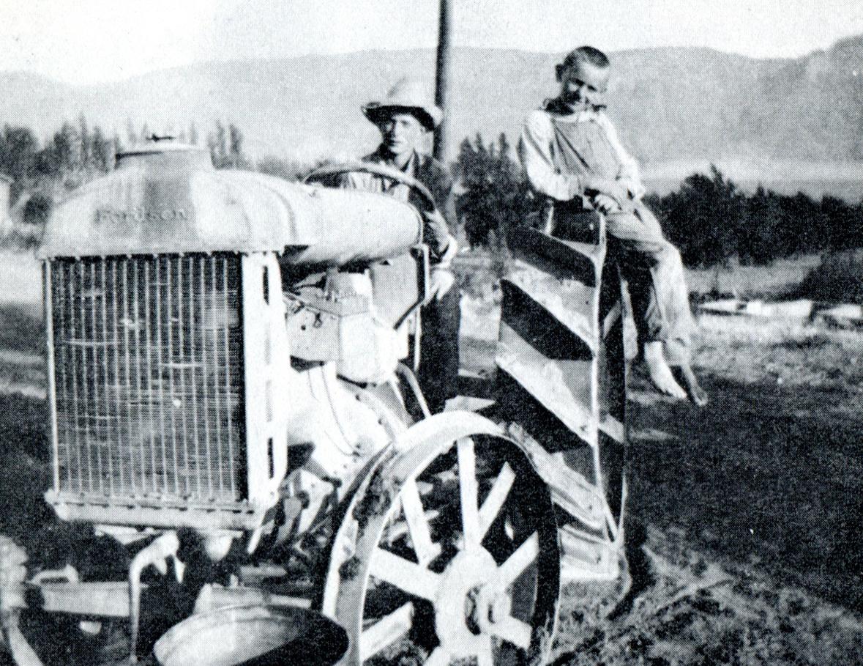 Richard on Tractor