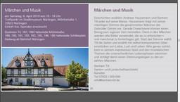 Märchen und Musik im Stadtmuseum Nürtingen