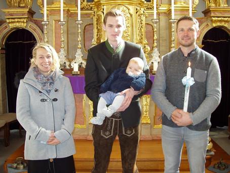 Taufe von Georg Weinberger