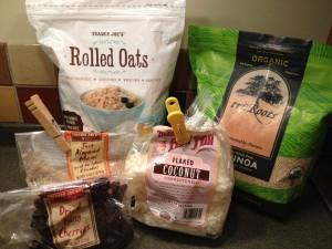 Quinoa, Oat and Cherry Bars