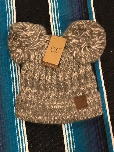 CC Beanie with Two Poms